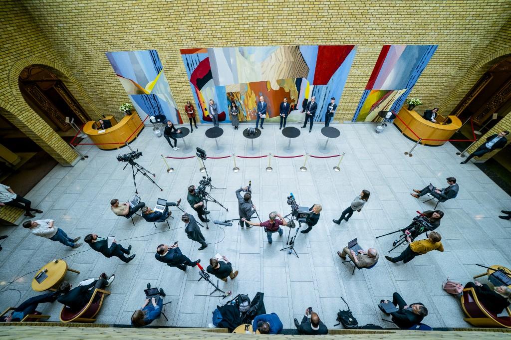 Press konferencija norveškog parlamenta