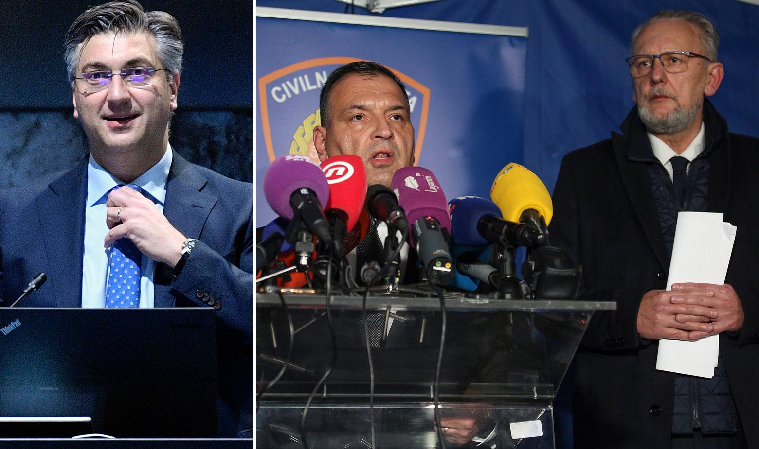 Andrej Plenković, Vili Beroš i Davor Božinović