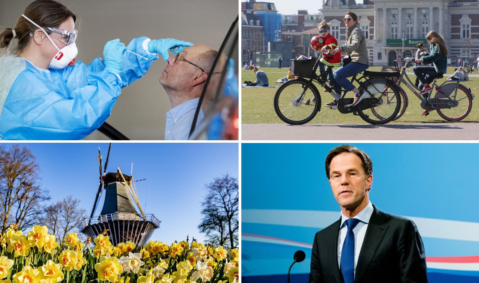 Prizori iz Nizozemske i Mark Rutte dolje desno
