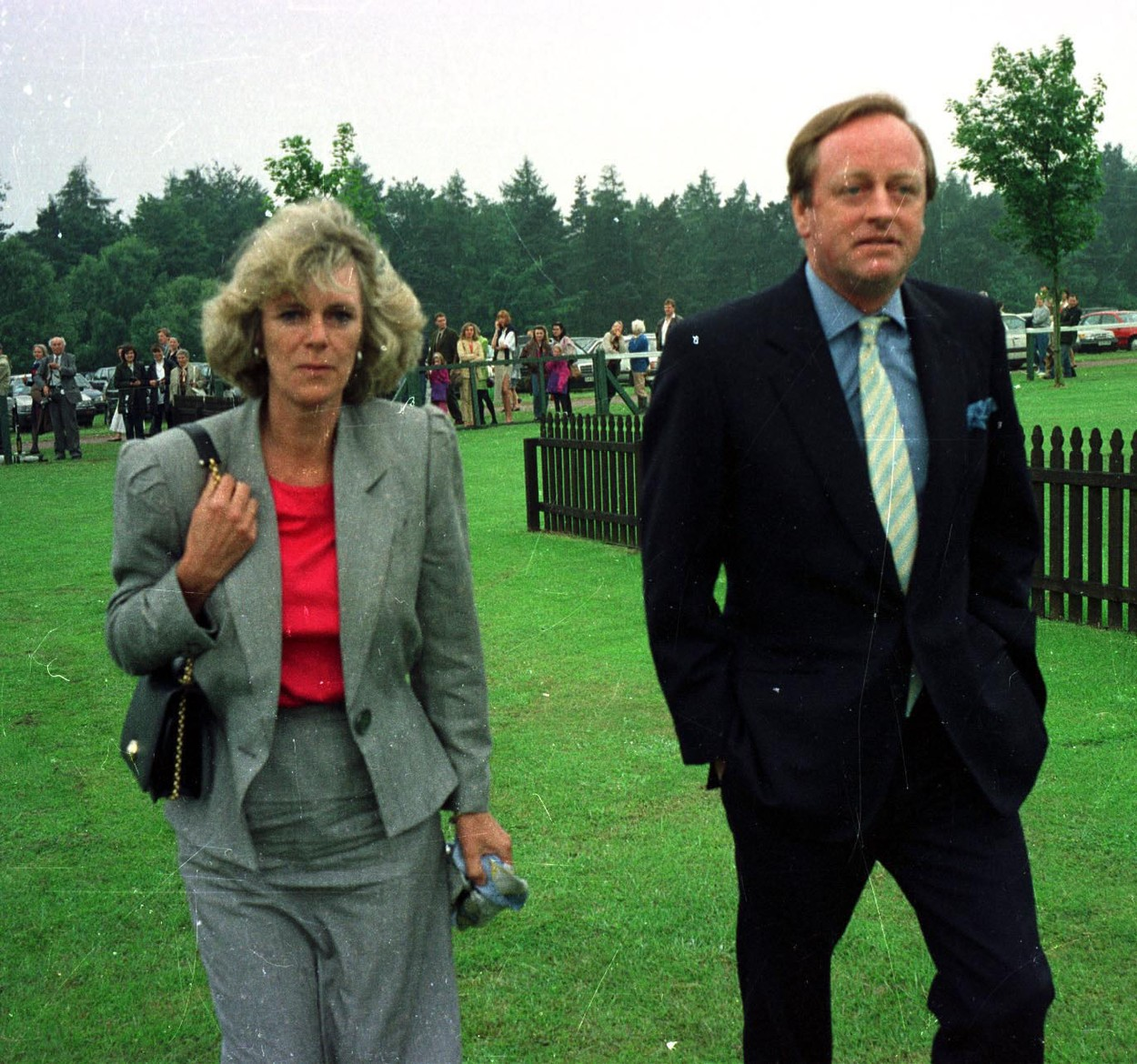 CAMILLA and ANDREW PARKER BOWLES enjoy a day at the races - Date: 07.06.1992., Image: 22417518, License: Rights-managed, Restrictions: FEE PAYABLE UPON REPRODUCTION Universal Pictorial Press & Agency 29-31 Saffron Hill, London. EC1N 8SW Tel: +44 (0)20 7421 6000, Model Release: no, Credit line: © Bandphoto / UPPA/Photoshot / Avalon Editorial / Profimedia