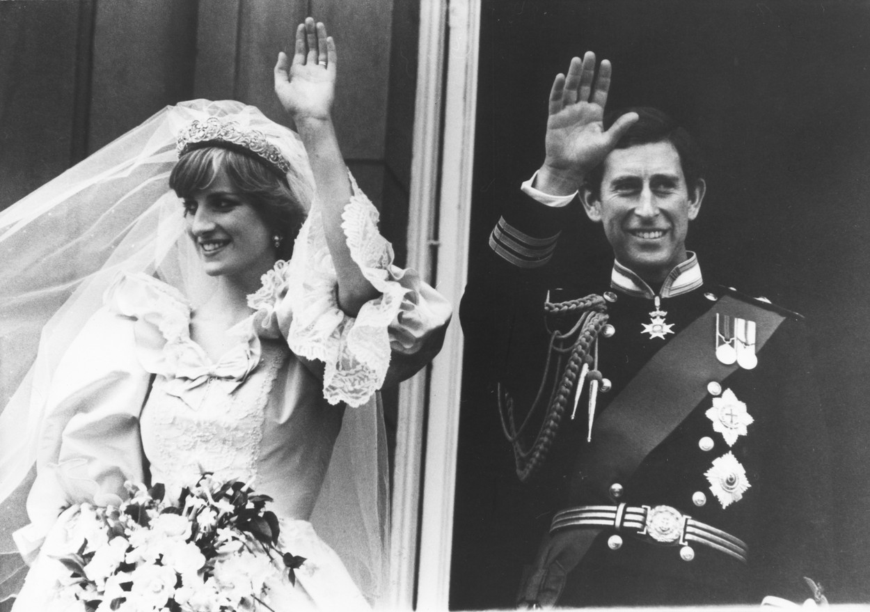 Jul 29, 1981 - London, England, United Kingdom - PRINCE CHARLES and DIANA SPENCER (1961-1997) after nuptials. Wedding of Charles, Prince of Wales, and LADY DIANA SPENCER held at St. Paul's Cathedral, watched by a global television audience of 750 million while 600,000 people lined the streets to catch a glimpse of Diana en route to the ceremony., Image: 206509930, License: Rights-managed, Restrictions: , Model Release: no, Credit line: KEYSTONE Pictures / Zuma Press / Profimedia