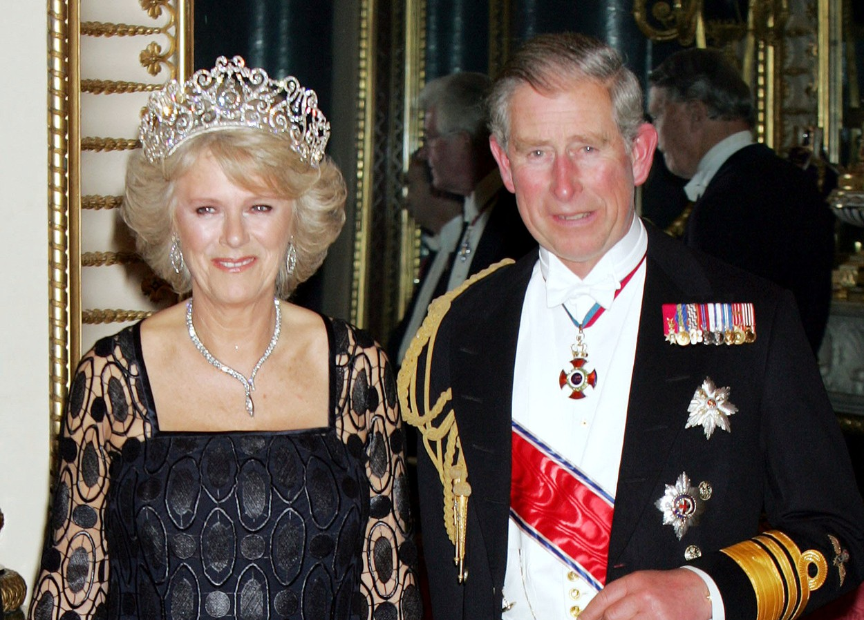 Camilla, Duchess of Cornwall with Prince Charles ROYAL BANQUET CELEBRATING NORWEGIAN ROYAL FAMILY  OFFICIAL VISIT, BUCKINGHAM PALACE, LONDON, BRITAIN  - 25 OCT 2005, Image: 221276704, License: Rights-managed, Restrictions: , Model Release: no, Credit line: - / Shutterstock Editorial / Profimedia