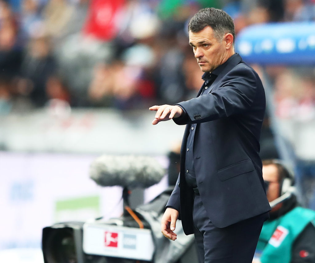 BERLIN, GERMANY - OCTOBER 01:  Willy Sagnol head coach of Bayern Munich in action during the Bundesliga match between Hertha BSC and FC Bayern Muenchen at Olympiastadion on October 1, 2017 in Berlin, Germany.  (Photo by Martin Rose/Bongarts/Getty Images)