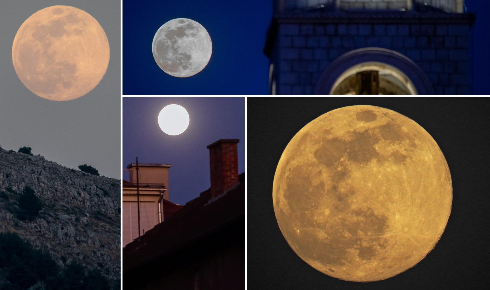 Prizori supermjeseca iznad Hrvatske