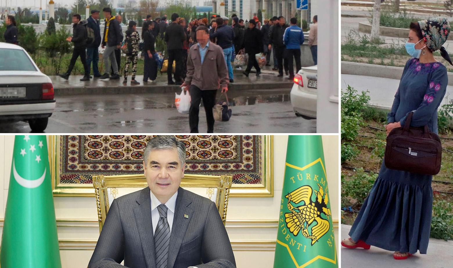 Prizori iz Turkemnistana i predsjednik države Gurbangulij Berdimuhamedov (dolje)
