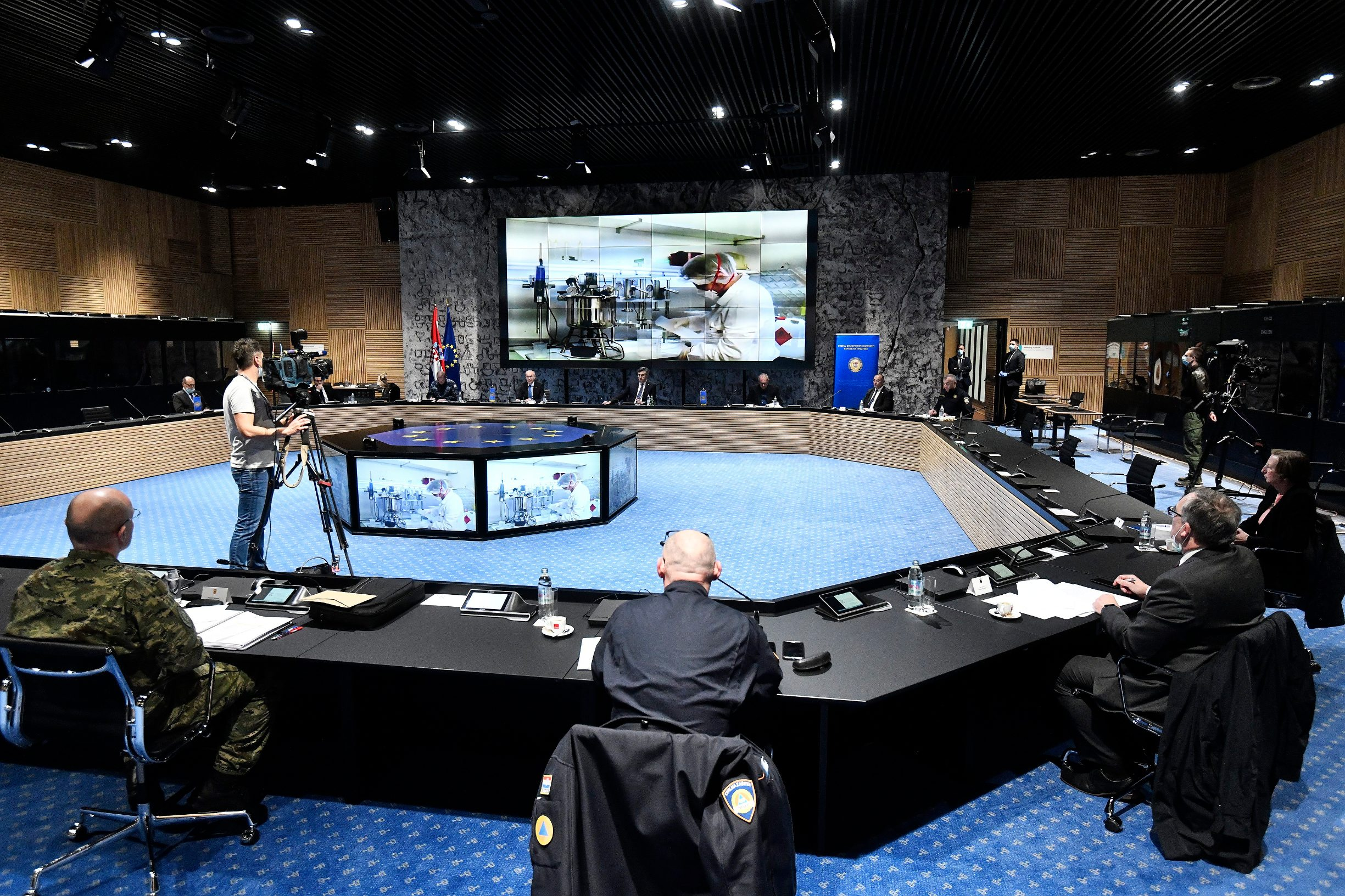 Zagreb, 080420. Sjednica Koordinacije za sustav domovinske sigurnosti u NSK. Foto: Boris Kovacev / CROPIX