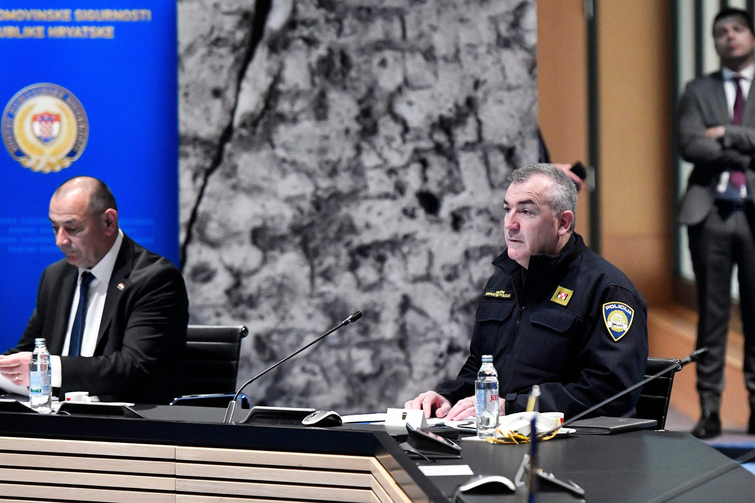 Zagreb, 080420. Sjednica Koordinacije za sustav domovinske sigurnosti u NSK. Na fotografiji: Nikola Milina. Foto: Boris Kovacev / CROPIX