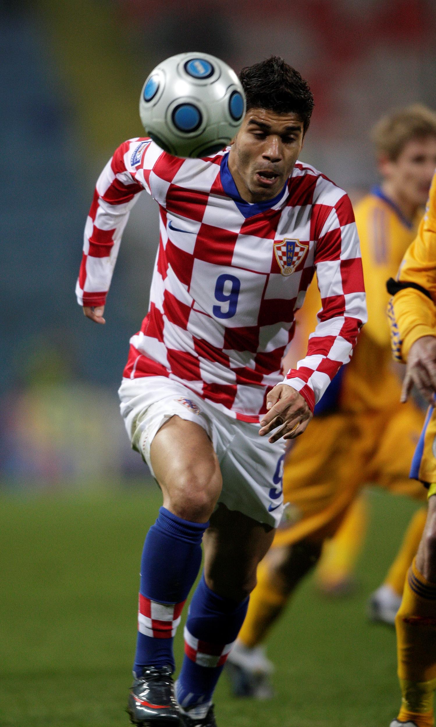 Bukurest, 110209.  Ghencea stadion.  Prijateljska utakmica Rumunjska- Hrvatska.  Eduardo Da Silva.  Foto: Ronald Gorsic / CROPIX