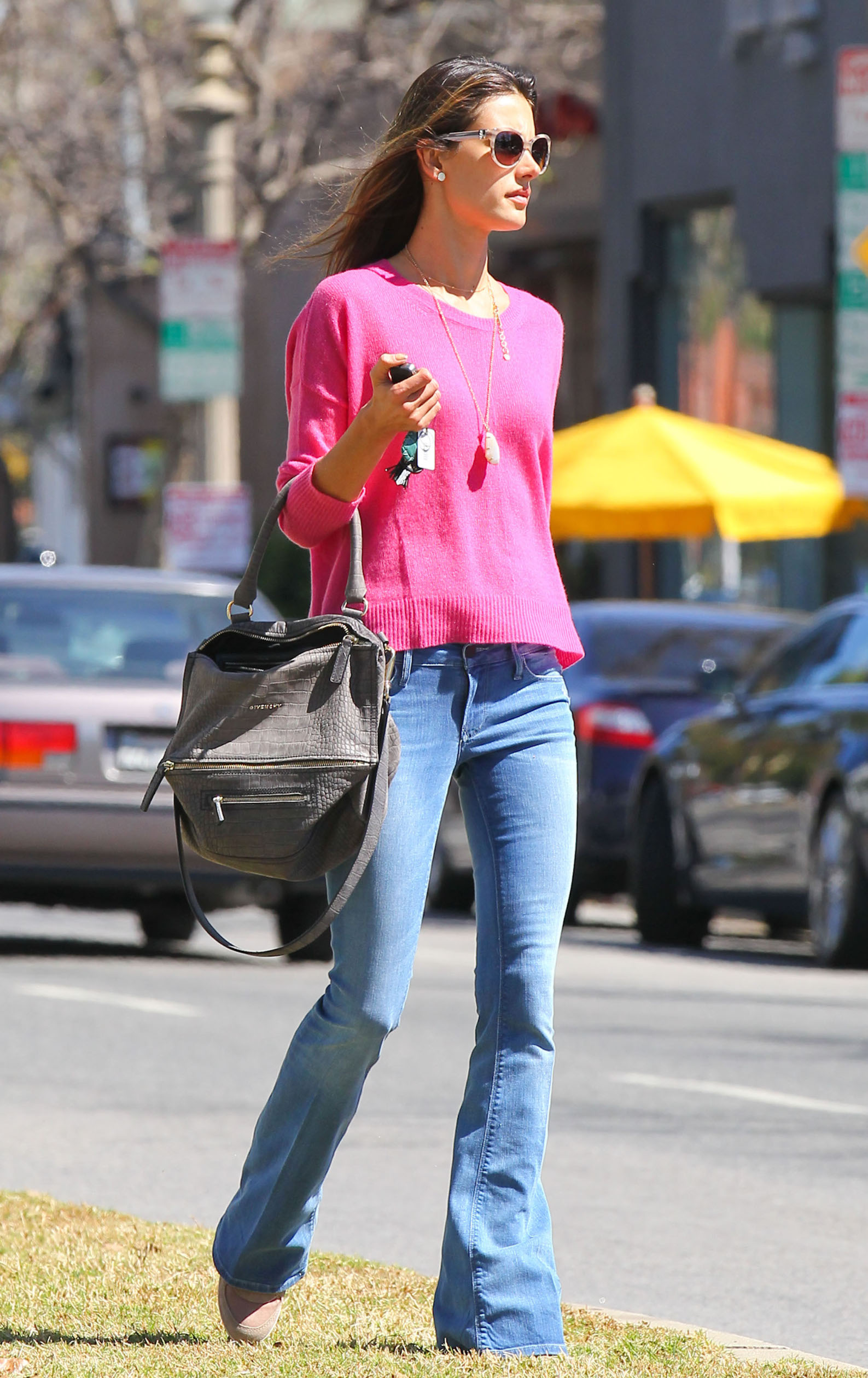 Exclusive... 51036560 Victoria's Secret model Alessandra Ambrosio out and about in Brentwood, California on March 13, 2013., Image: 156053035, License: Rights-managed, Restrictions: , Model Release: no, Credit line: Stoianov / Backgrid USA / Profimedia
