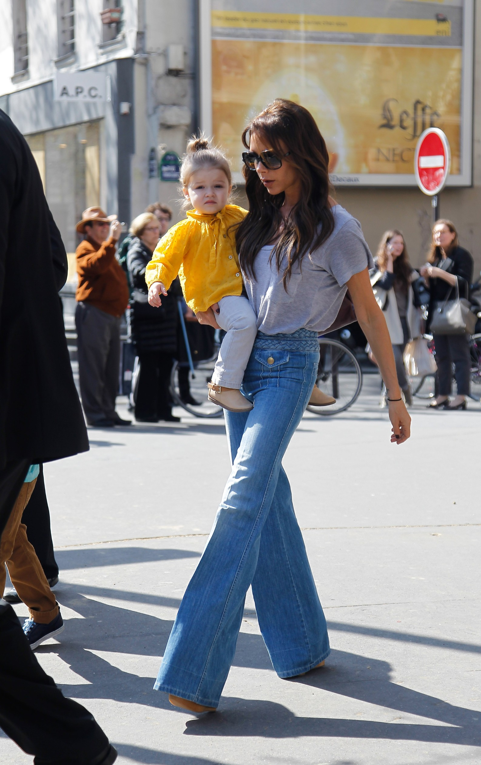 Victoria Beckham and family did some shopping at BonTon's store in Paris.  20/04/2013. Paris, France., Image: 159090970, License: Rights-managed, Restrictions: , Model Release: no, Credit line: FKF+LSN / KCS Presse / Profimedia