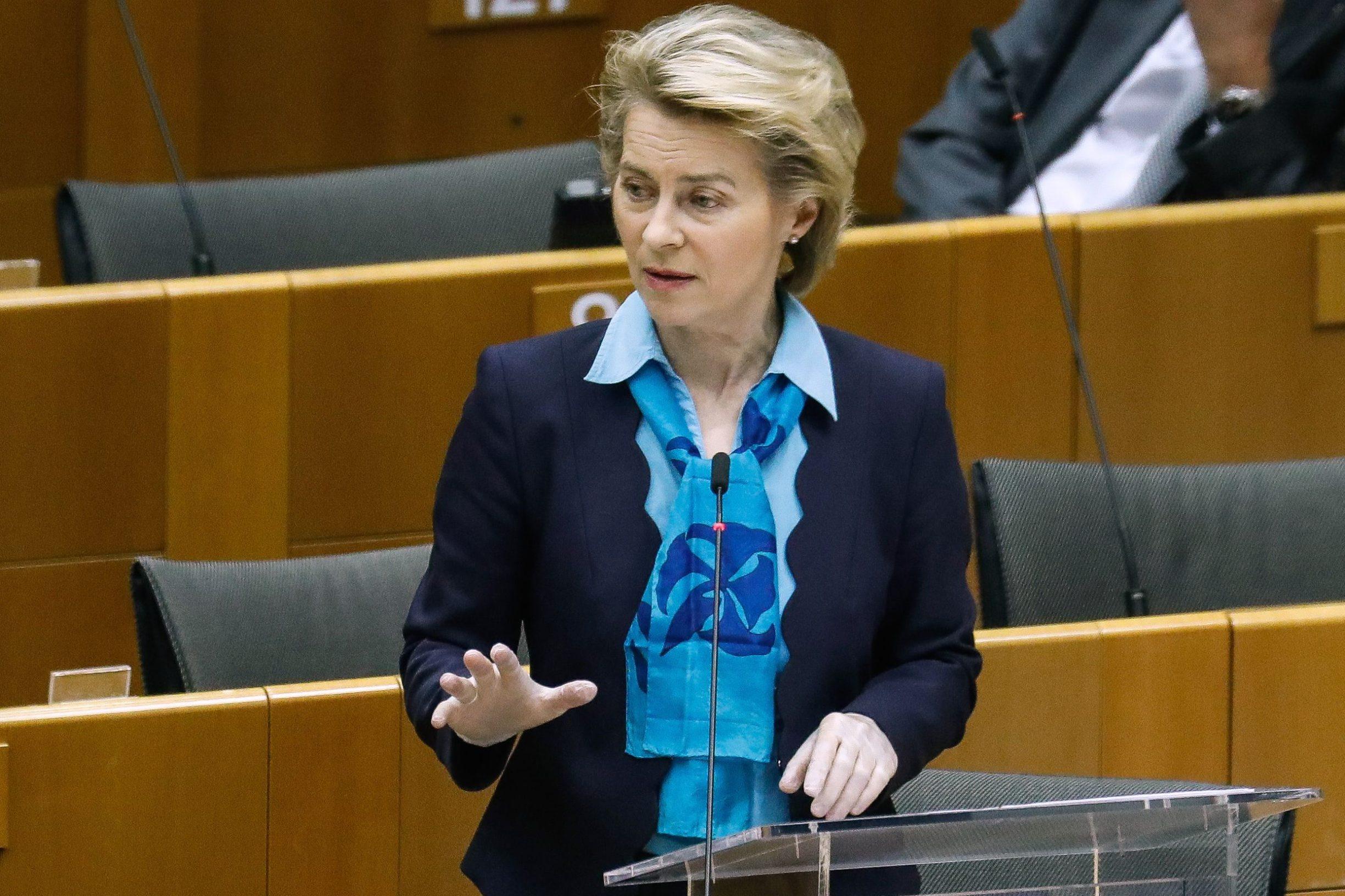 Predsjednica Europske komisije Ursula von der Leyen u Europskom parlamentu