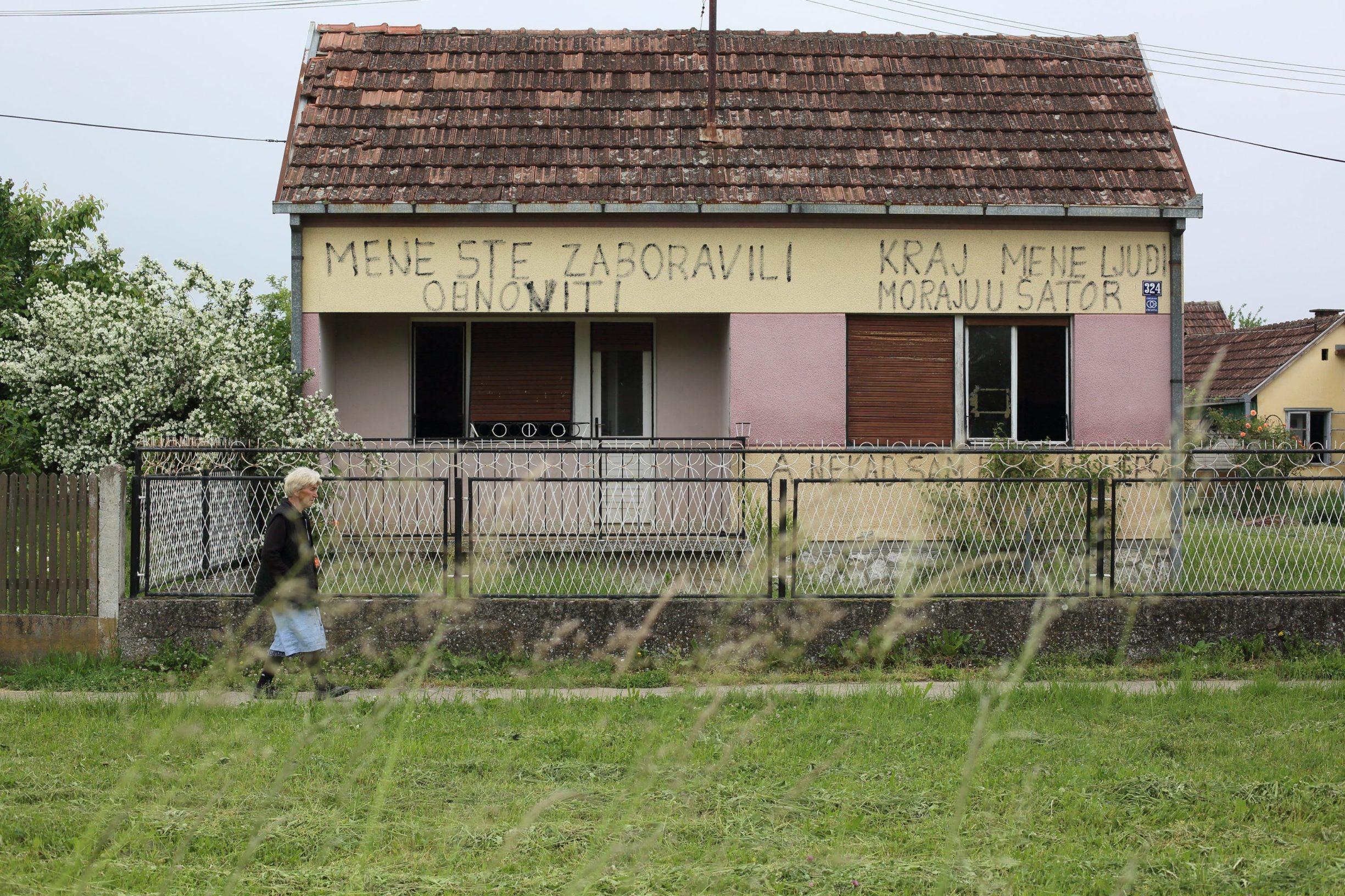 Gunja, 150520. Reportaza o zivotu u Gunji sest godina nakon katastrofalne poplave. Na fotografiji: jedna od neobnovljenih kuca nakon poplave u Gunji. Foto: Vlado Kos / CROPIX