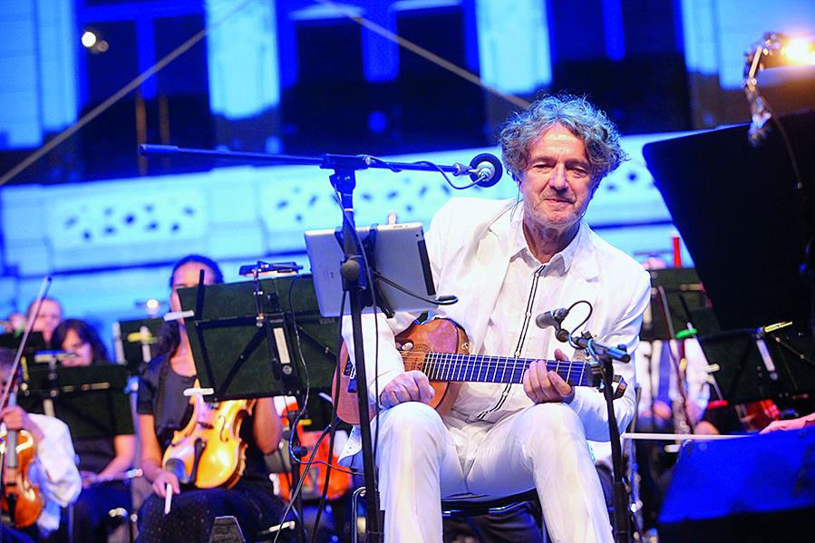 """koncert Goran Bregovic i Zagrebacka filharmonija """"Tri pisma iz Sarajeva"""" / Tomislavov trg / Zagreb 29.06.2017. / foto: Maja Jurovic / Goran Bregovic"""
