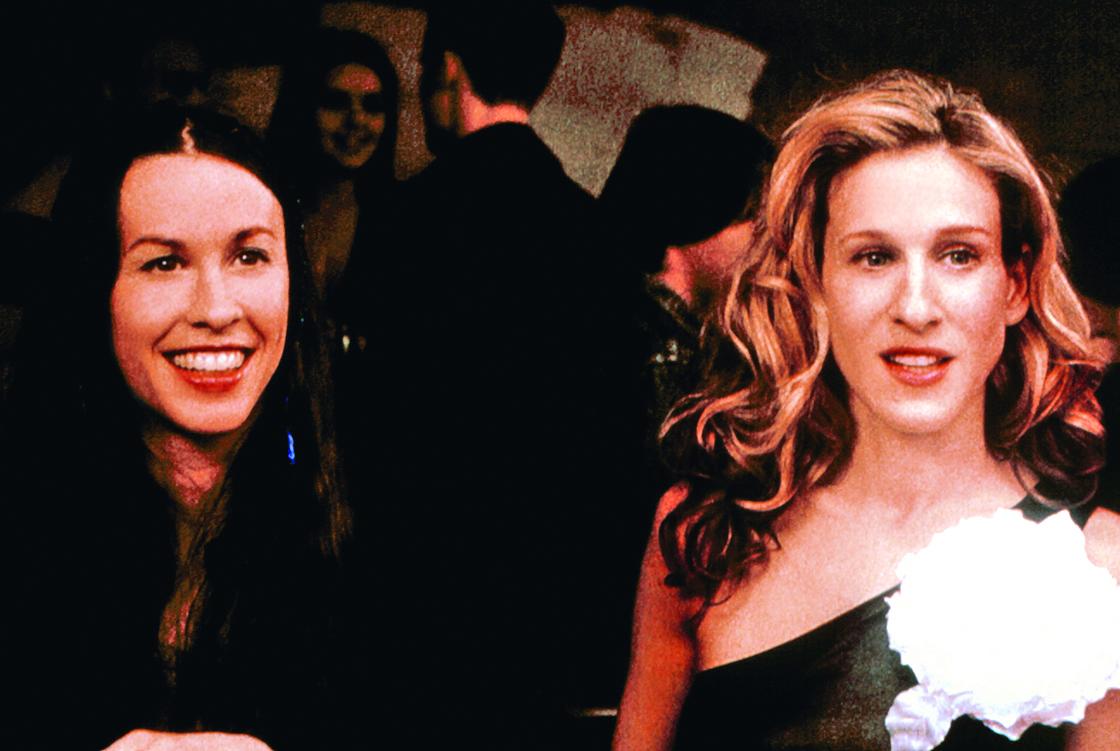 SEX AND THE CITY, Alanis Morissette, Sarah Jessica Parker, ('Boy Girl Boy Girl', Season 3), 1998-2004, © HBO/ Courtesy: Everett