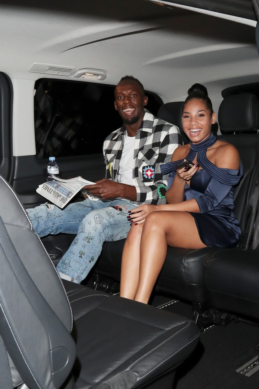 London, UNITED KINGDOM  - Usain Bolt parties with girlfriend Kasi Bennett at DSTRKT night club in London  Pictured: Usain Bolt , Kasi Bennett  BACKGRID UK 15 AUGUST 2017   UK: +44 208 344 2007 / uksales@backgrid.com  USA: +1 310 798 9111 / usasales@backgrid.com  *UK Clients - Pictures Containing Children Please Pixelate Face Prior To Publication*, Image: 345213856, License: Rights-managed, Restrictions: , Model Release: no, Credit line: BACKGRID / Backgrid UK / Profimedia