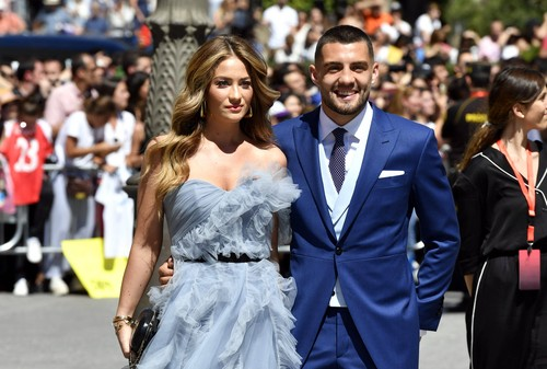 Soccerplayer Mateo Kovacic and wife Izabel Andrijanic during the wedding of Sergio Ramos and Pilar Rubio in Seville on Saturday, 15 June 2019 Cordon Press, Image: 447974561, License: Rights-managed, Restrictions: , Model Release: no, Credit line: 744/due�as/cordonpress / Cordon Press / Cordon Press / Cordon Press / Profimedia