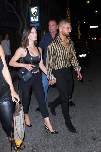 Beverly Hills, CA  - Latin superstar Maluma was spotted after a night out and restaurant Wally's in Beverly Hills. Maluma walked out with a couple of friends and held hands with girlfriend, model Natalia Barulich. The couple has been spotted around LA while Maluma is on a mini break from his tour, before he kicks of his 11:11 World Tour with a couple of shows scheduled in LA this weekend.  BACKGRID USA 5 SEPTEMBER 2019, Image: 469245176, License: Rights-managed, Restrictions: , Model Release: no, Credit line: ALEXJR / BACKGRID / Backgrid USA / Profimedia