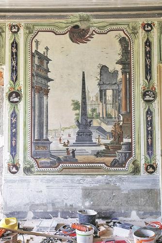 Rijeka, 140520. Palaca secerane. Reportaza o novom Muzeju grada Rijeke. Na fotografiji: freske. Foto: Matija Djanjesic / CROPIX