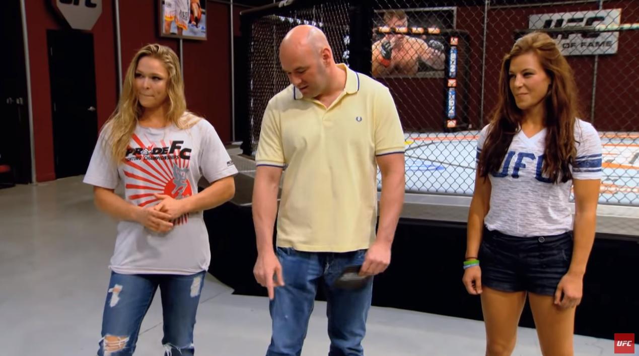 Ronda Rousey, Dana White i Miesha Tate