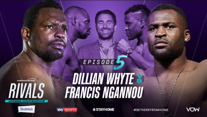 Dillian Whyte, Eddie Hearn i Francis Ngannou