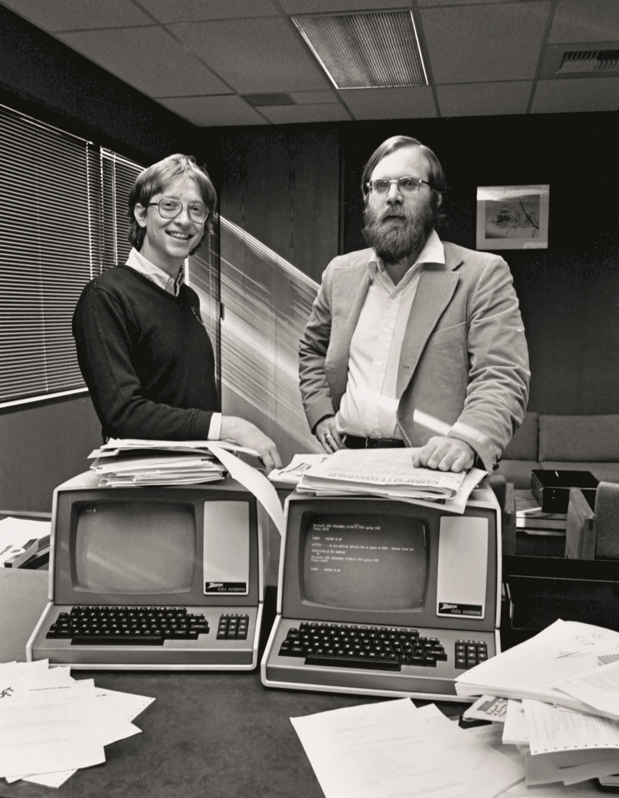 Bill Gates and Paul Allen, 1982. .Feb. 10, 1982., Image: 43563372, License: Rights-managed, Restrictions: * U.S. Tabloid Rights OUT *, Model Release: no, Credit line: s03 / Zuma Press / Profimedia