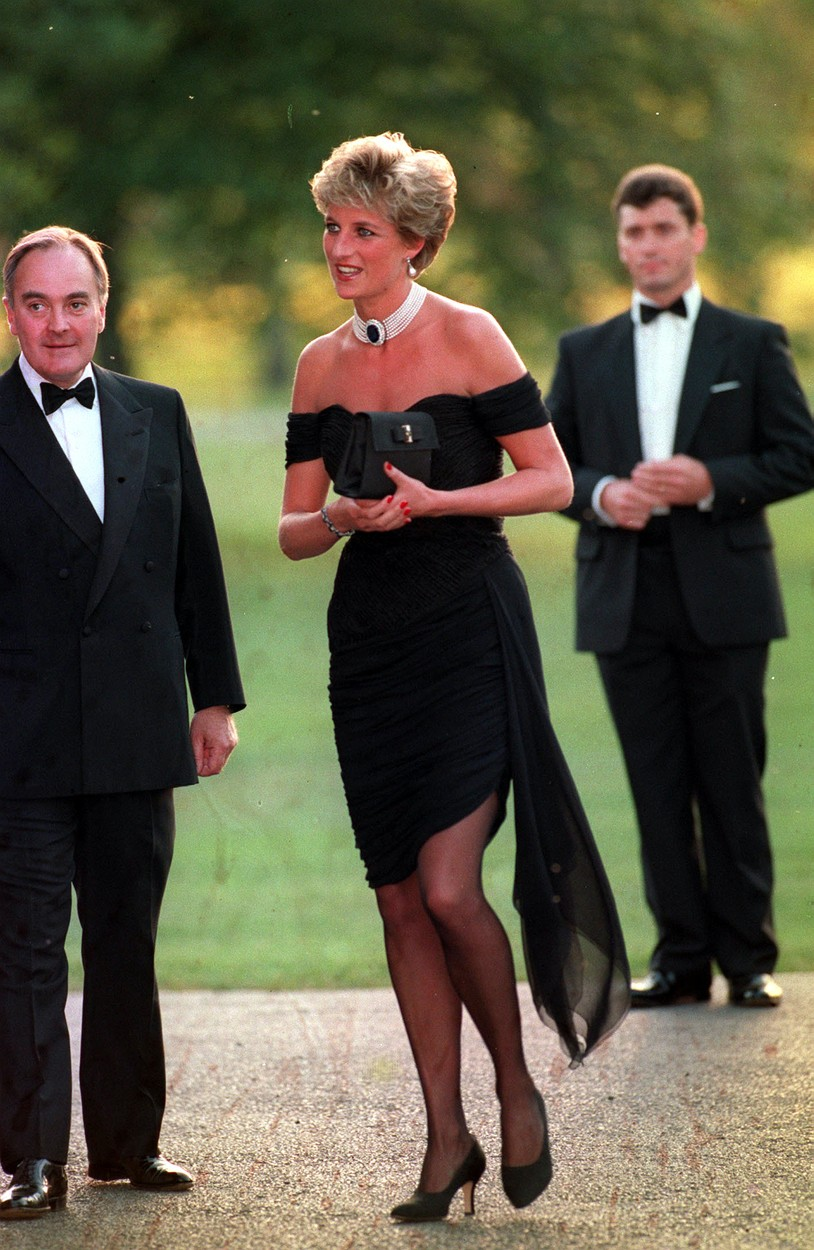 File photo dated 29/6/1994 of the Princess of Wales arriving at the Serpentine Gallery in London's Hyde Park to attend a gala dinner as its patron. Twenty-five years ago, the Princess of Wales stepped out in her