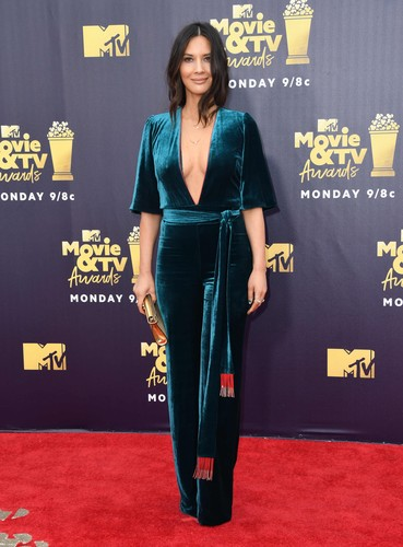 16 June 2018 - Santa Monica, California - Olivia Munn. 2018 MTV Movie and TV Awards held at  Barker Hangar., Image: 375146401, License: Rights-managed, Restrictions: , Model Release: no, Credit line: Birdie Thompson / ADMedia / Profimedia