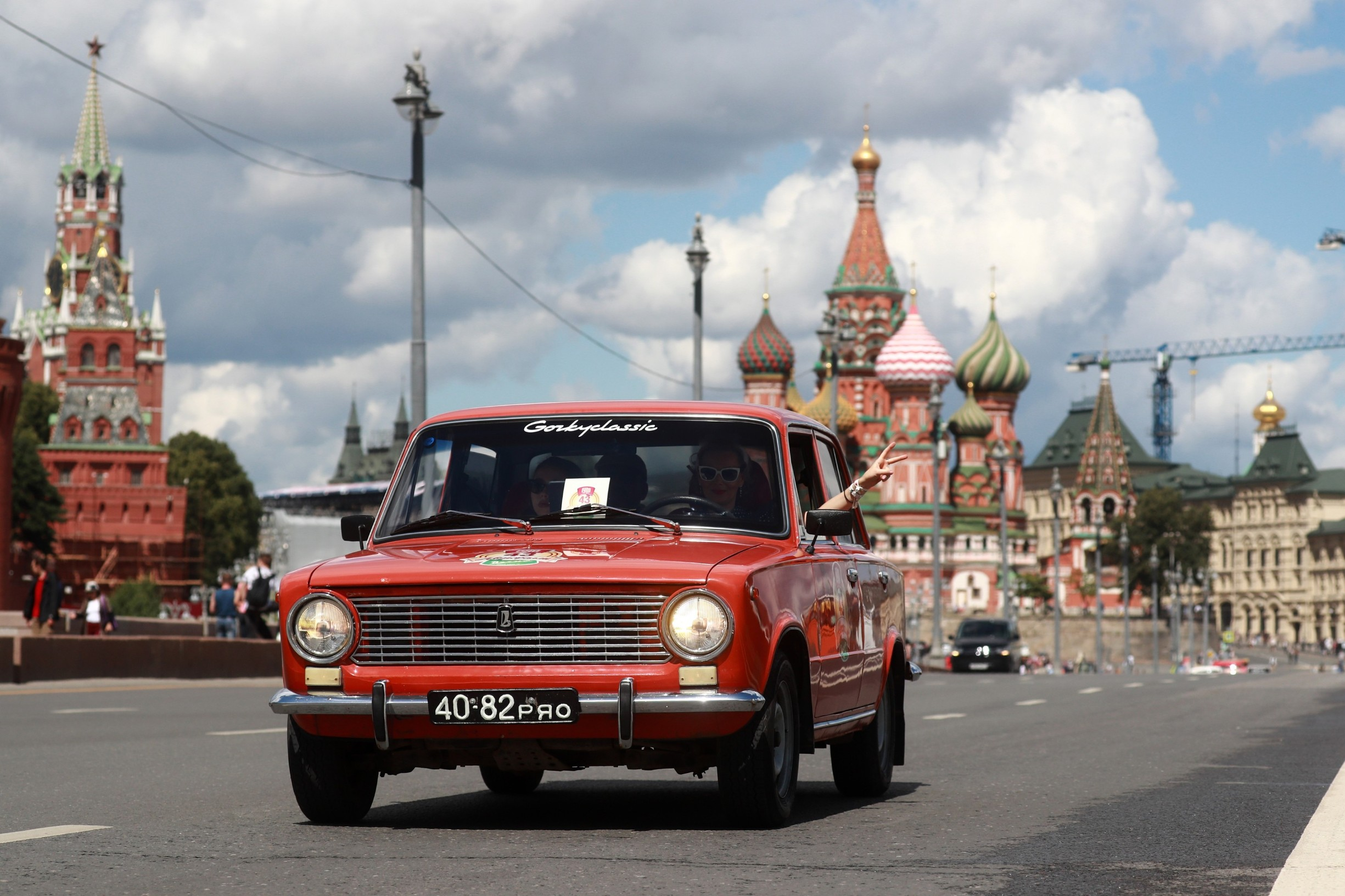 MOSCOW, RUSSIA - JULY 23, 2017: A VAZ-2101 car takes part in the 2017 GUM Motor Rally of retro cars in central Moscow. Sergei Fadeichev/TASS, Image: 342778953, License: Rights-managed, Restrictions: , Model Release: no, Credit line: Sergei Fadeichev / TASS / Profimedia