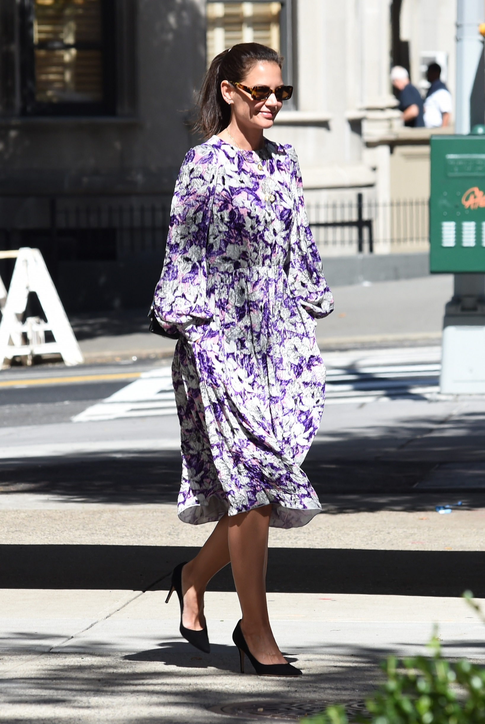 September 17, 2019, New York, NY, USA: September 17, 2019 New York City..Katie Holmes was seen in a floral print dress New York City on September 17, 2019., Image: 471449580, License: Rights-managed, Restrictions: , Model Release: no, Credit line: Kristin Callahan / Zuma Press / Profimedia