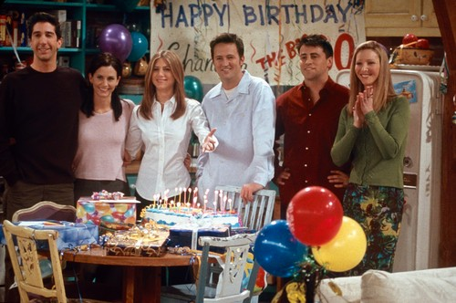 LIBRARY.  USA. Lisa Kudrow, Jennifer Aniston, Matt LeBlanc, Matthew Perry, Courteney Cox and David Schwimmer in the promo image for  ©Warner Bros. TV series : 'Friends' ( 1994-2004 ),Image: 448710348, License: Rights-managed, Restrictions: Supplied by Landmark Media. Editorial Only. Landmark Media is not the copyright owner of these Film or TV stills but provides a service only for recognised Media outlets., Model Release: no