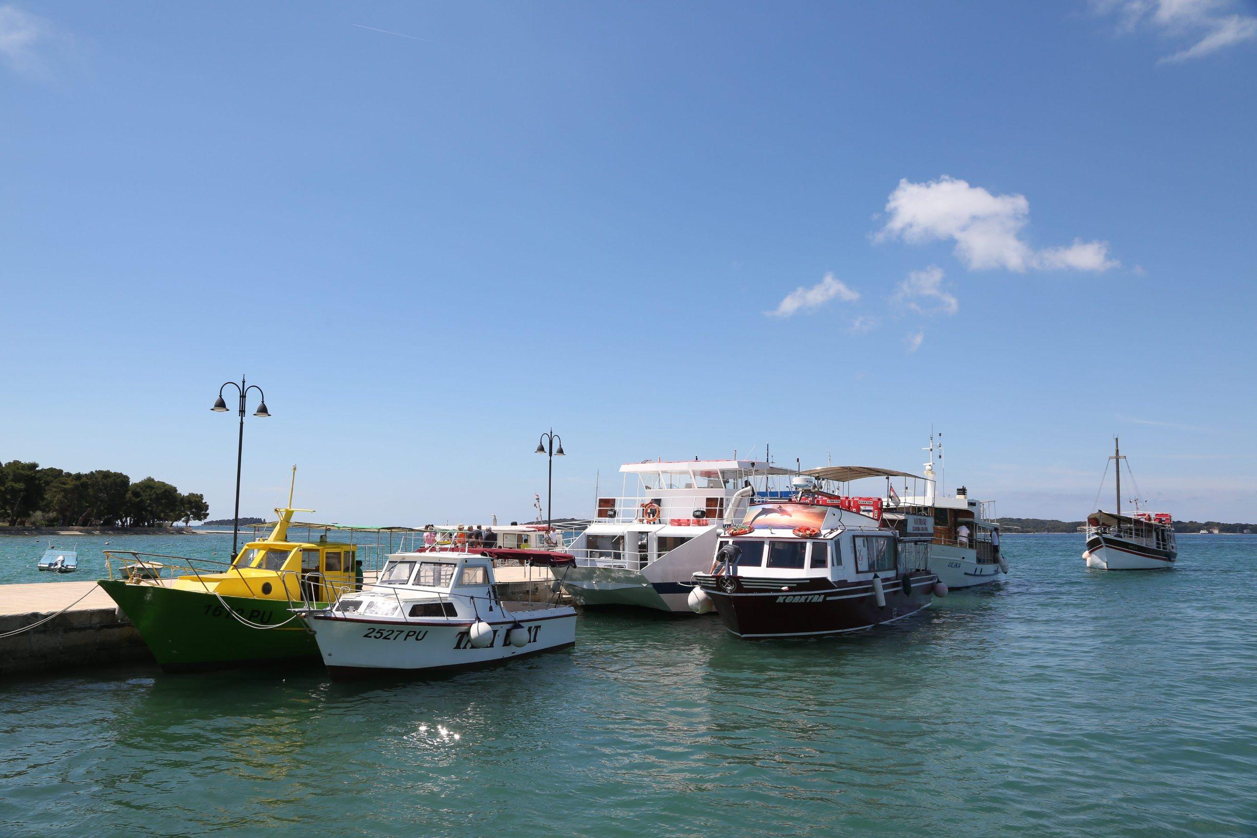 Fazana, 120620. Prosvjed malih brodara zbog naplate voznje u vodama Nacionalnog parka Brijuni. Foto: Goran Sebelic / CROPIX