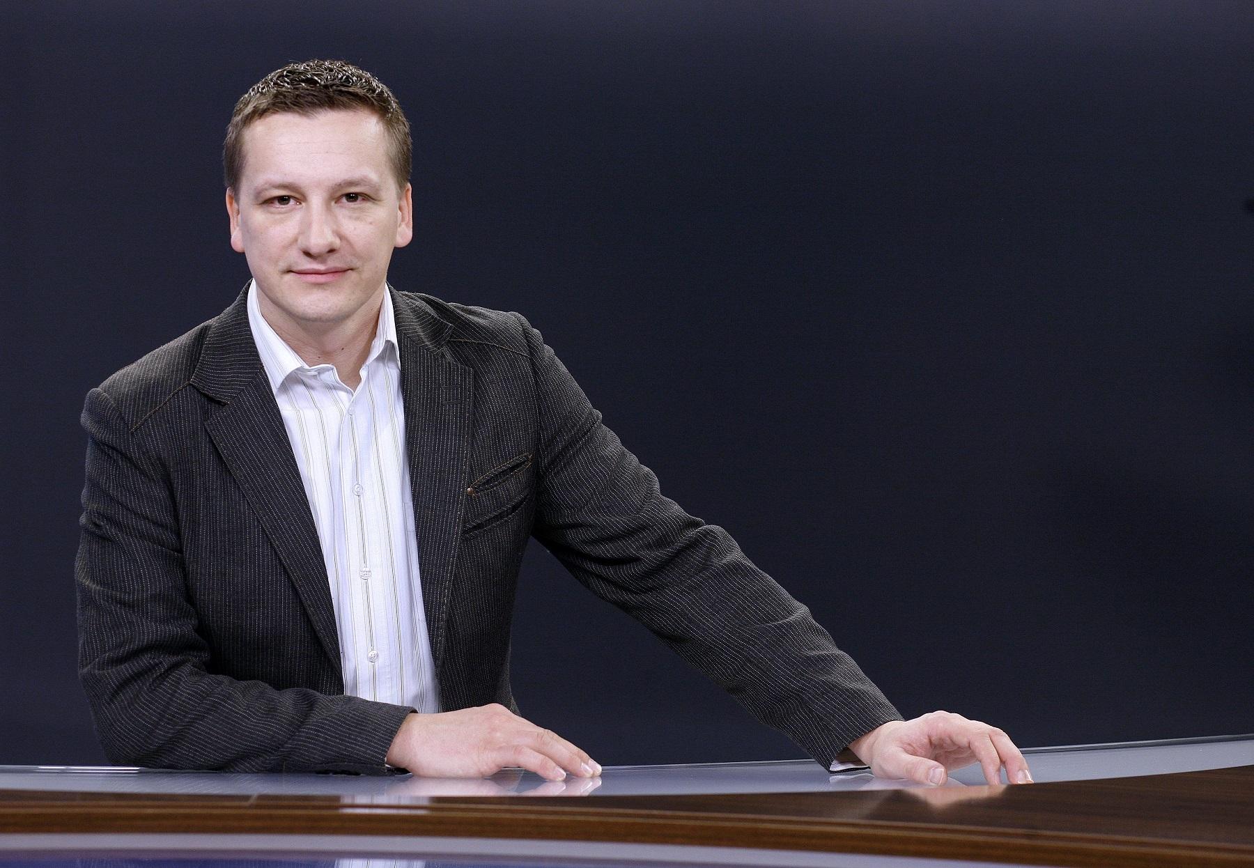 Zagreb, 140214. RTL televizija. Na fotografiji: Tomislav Jelincic, urednik i voditelj na RTL televiziji. Foto: Biljana Gaurina / CROPIX