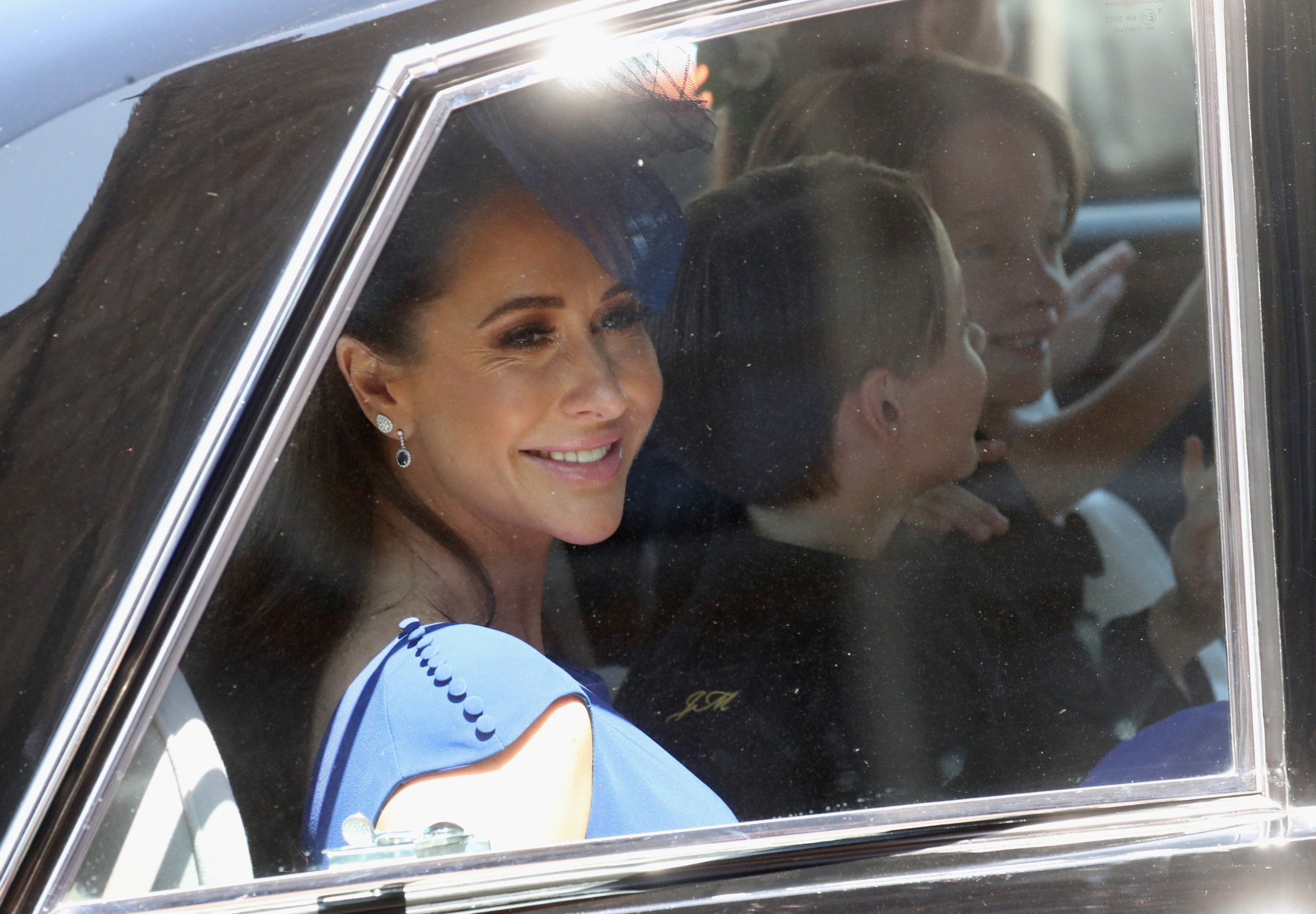 WINDSOR, ENGLAND - MAY 19: Canadian Fashion Stylist Jessica Mulroney arrives at the wedding of Prince Harry to Ms Meghan Markle at St George's Chapel, Windsor Castle on May 19, 2018 in Windsor, England. Prince Henry Charles Albert David of Wales marries Ms. Meghan Markle in a service at St George's Chapel inside the grounds of Windsor Castle. Among the guests were 2200 members of the public, the royal family and Ms. Markle's Mother Doria Ragland.,Image: 372287507, License: Rights-managed, Restrictions: NO UK USE  FOR SEVEN DAYS - Fee Payable Upon Reproduction - For queries contact Avalon.red - sales@avalon.red London: +44 (0) 20 7421 6000 Los Angeles: +1 (310) 822 0419 Berlin: +49 (0) 30 76 212 251 Madrid: +34 91 533 4289, Model Release: no, Credit line: Avalon.red / Avalon Editorial / Profimedia