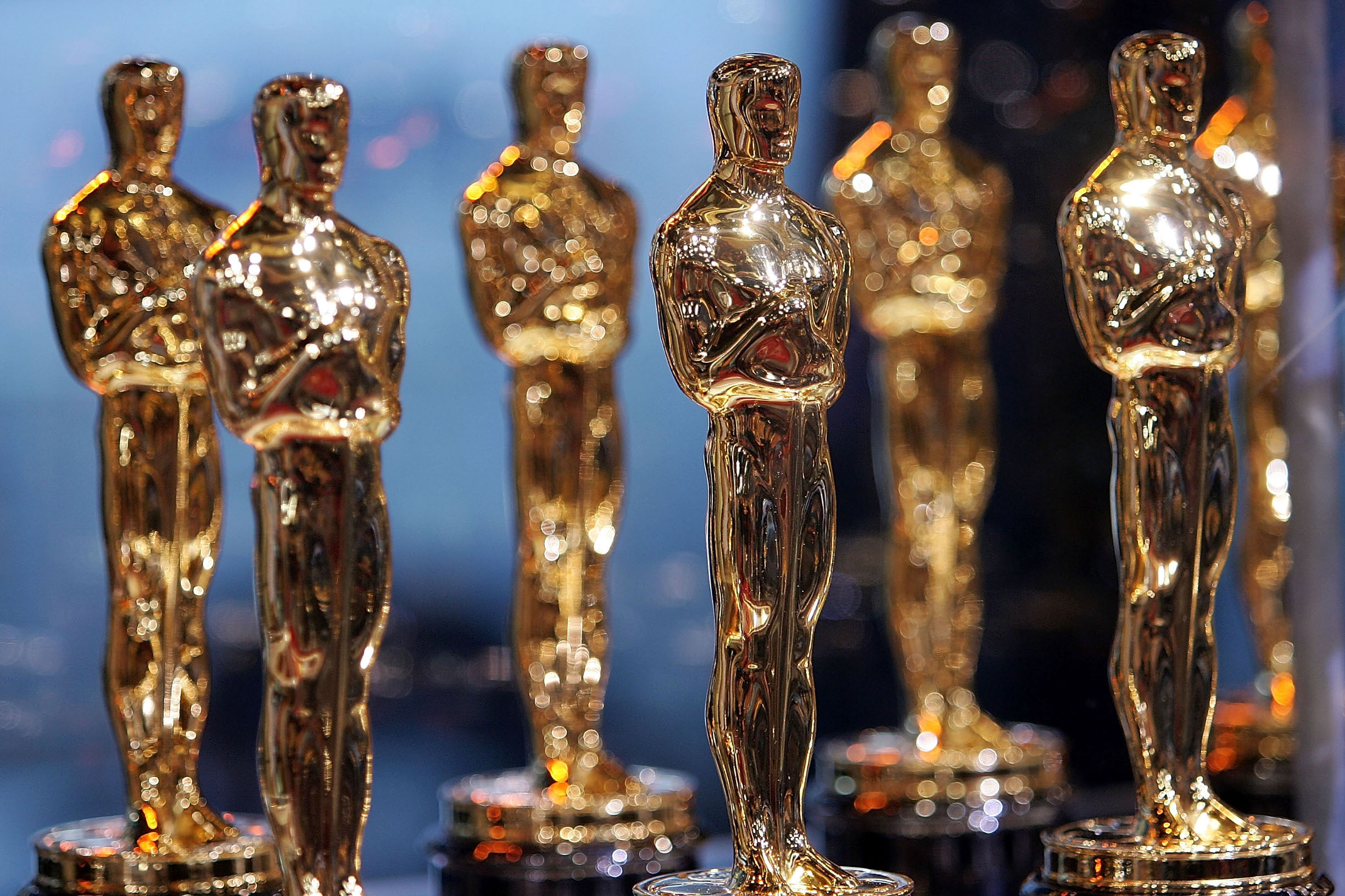NEW YORK - FEBRUARY 12:  Oscar Statues are displayed at the 2007