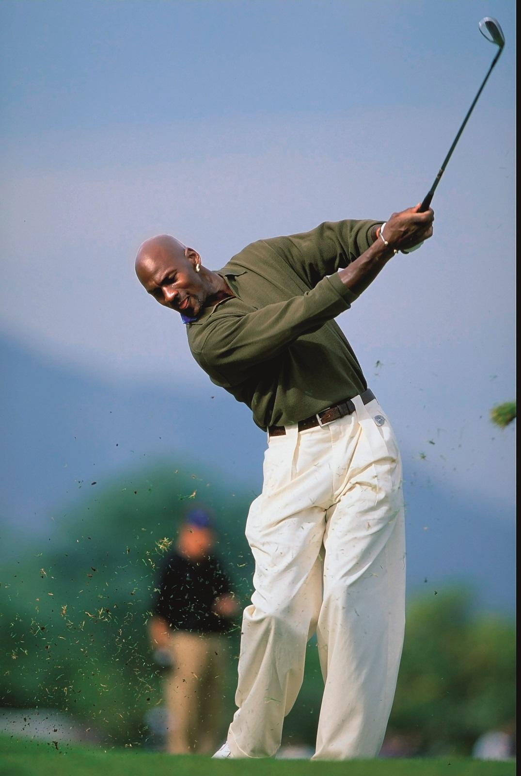 19 Dec 1998:  Michael Jordan in action during the Lexus Challenge Citrus Course at La Quinta Country Club in La Quinta, California. Mandatory Credit: Jonathan Ferrey  /Allsport