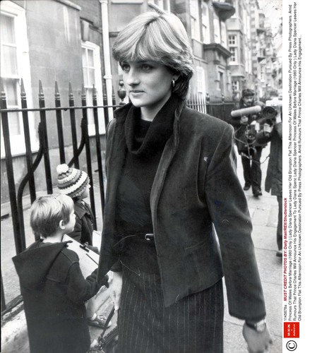 Lady Diana Spencer Princess Of Wales Before Marriage (1980 Only ) Lady Diana Spencer Leaves Her Old Brompton Flat This Afternoon For An Unknown Destination Pursued By Press Photographers. Amid Rumours That Prince Charles Will Announce His Engagement To Lady Diana Spenc Princess Of Wales Before Marriage (1980 Only ) Lady Diana Spencer Leaves Her Old Brompton Flat This Afternoon For An Unknown Destination Pursued By Press Photographers. Amid Rumours That Prince Charles Will Announce His Engagement To Lady Diana Spencer On His 32nd Birthday Today The Girl In Question Was Keeping To Her Vow Of Silence Yesterday. The 19-year-old Daughter Of The Earl Of Spencer Emerged From Her London Flat To Race A Battery Of Press And Tv Cameras Pursing Her Lips At Questions About Her Plans. Eventually She Cracked Into Giggles But Still Refused To Say A Word As She Got Into Her Blue Renault 5 Car. ...royalty,Image: 345125791, License: Rights-managed, Restrictions: , Model Release: no