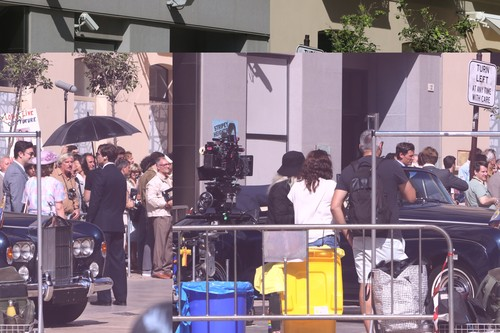 October 6, 2019: 6 October 2019 (Malaga ) The center of Malaga has hosted this Sunday the filming of new chapters of the fourth season of The Crown, the series produced by Netflix which narrates different moments in the life of Queen Elizabeth II and the British royal family. Among the many actors who starred in the day was actress Emma Corrin, who plays Lady Di in this fourth season of The Crown, the series that recreates the biography of Queen Elizabeth II of England. Meanwhile, the third season opens on Netflix on November 17,Image: 475365894, License: Rights-managed, Restrictions: , Model Release: no