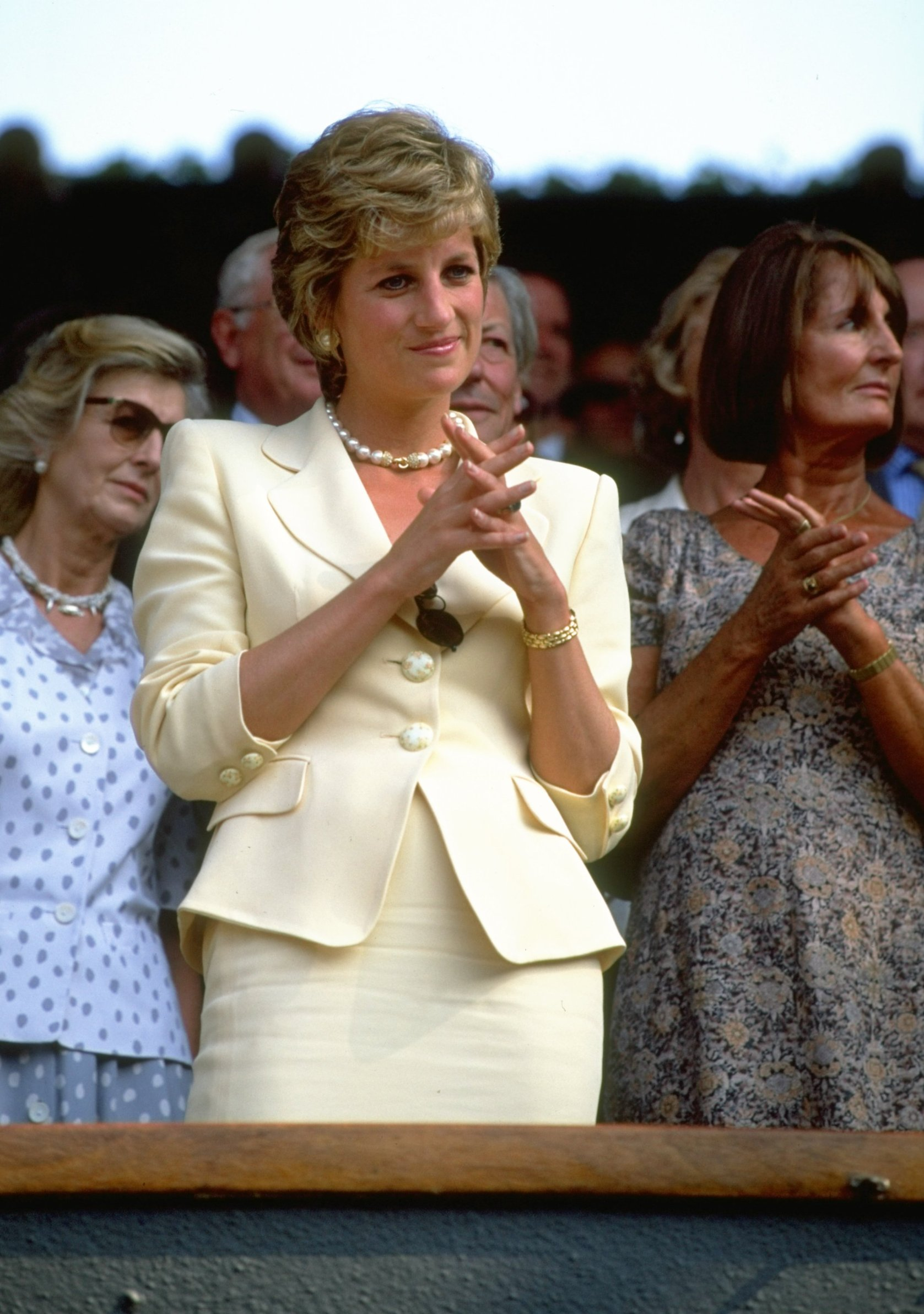 9 Jul 1995:  Portrait of Diana, Princess of Wales during the Lawn Tennis Championships at Wimbledon in London.  \ Mandatory Credit: Clive  Brunskill/Allsport