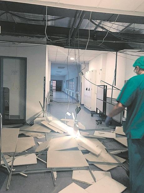 Zagreb, 220320. Stanje u Petrovoj bolnici nakon snaznih potresa koji su pogodili Zagreb. Foto: CROPIX