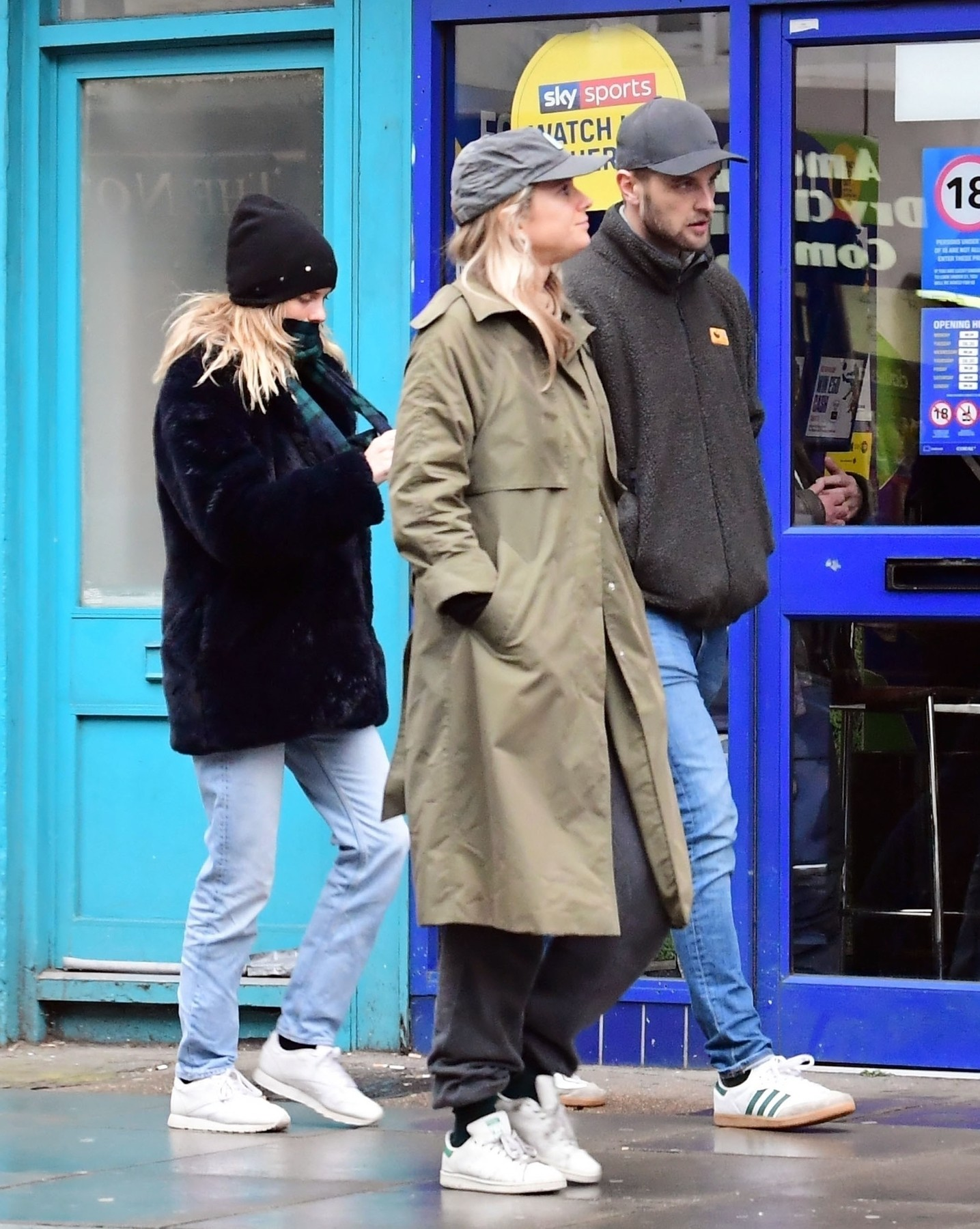 London, UNITED KINGDOM  - *EXCLUSIVE*  - WEB MUST CALL FOR PRICING  - PICTURES TAKEN ON 15/03/2020 -  Prince Harry's ex Cressida Bonas and husband to be Harry Wentworth-Stanley taking a stroll in Notting Hill.  With the threat of Coronavirus (COVID-19) gripping the UK, the couple were spotted out with a friend and for most of the time keeping a little social distance between themselves amidst the fear of the deadly virus.  Also, in keeping with Government policy during these difficult times, Cressida and Harry say their goodbyes to their friend in keeping with the current fashion by elbow bumping.  BACKGRID UK 17 MARCH 2020,Image: 507228697, License: Rights-managed, Restrictions: , Model Release: no