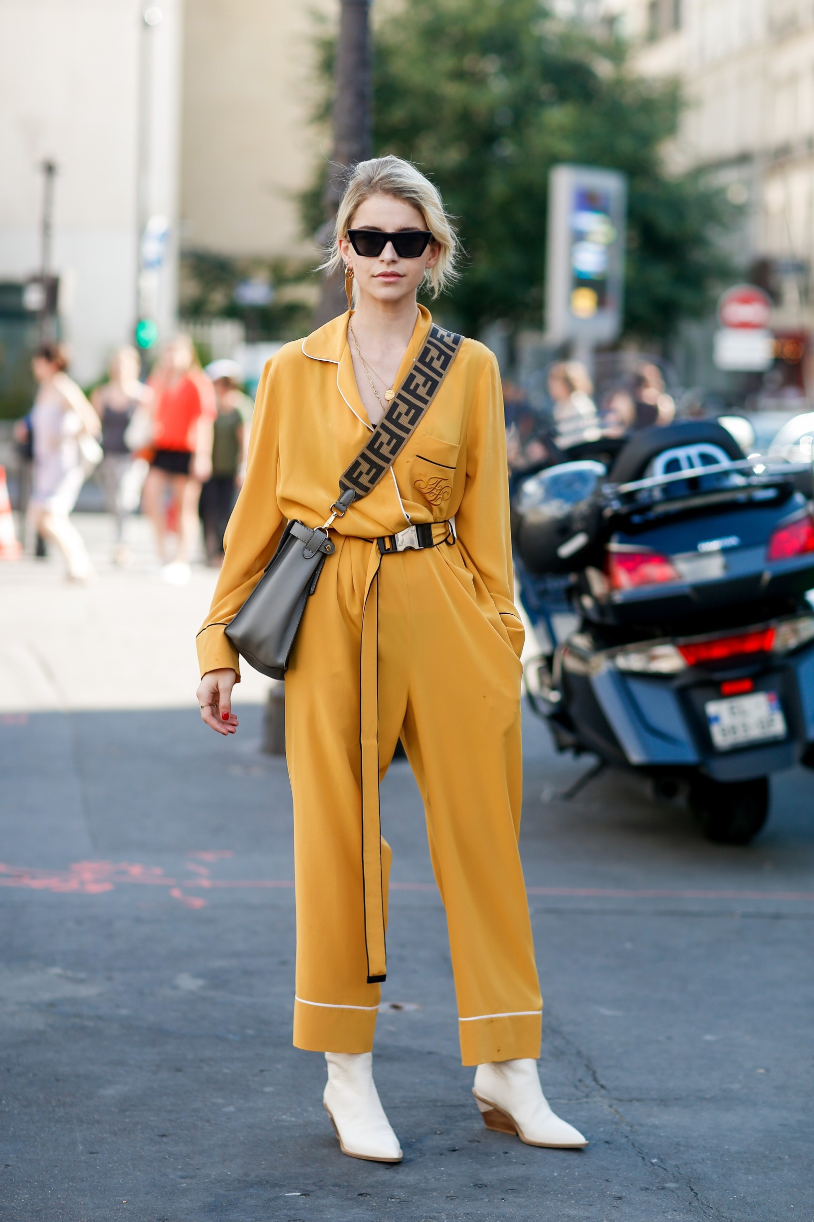 Street style, Caroline Daur arriving at Fendi Fall-Winter 2018-2019 Haute Couture show held at Palais Brongniart, in Paris, France, on July 4th, 2018.,Image: 377295597, License: Rights-managed, Restrictions: , Model Release: no, Credit line: Bertrand-Hillion Marie-Paola/ABACA / Abaca Press / Profimedia