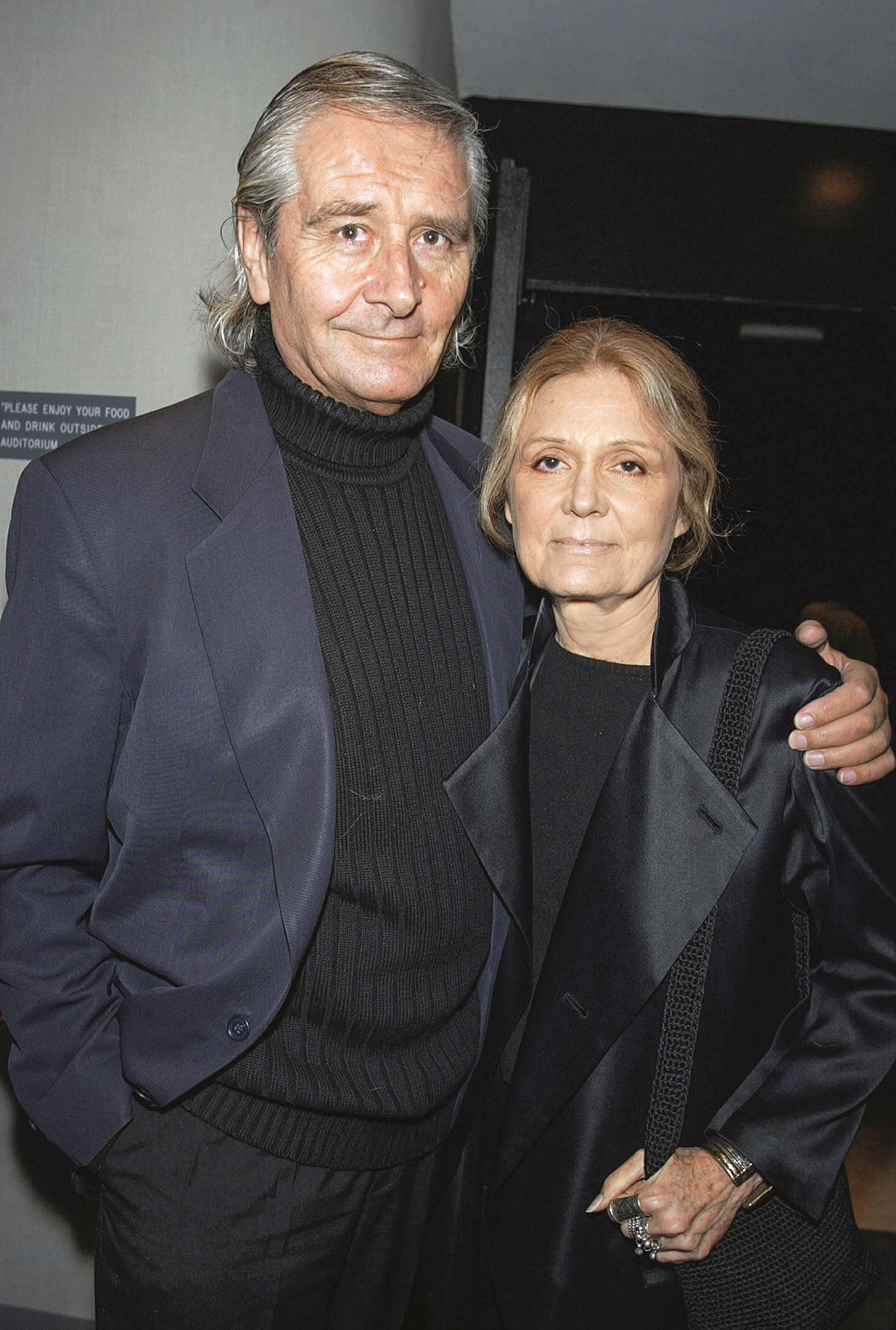 LOS ANGELES - MARCH 4:   Author Gloria Steinem (R) and her husband David Bale, Christian Bale's father, arrive at the premiere of 'Laurel Canyon' at the Harmony Theater on March 4, 2003 in Los Angeles, California. (Photo by Kevin Winter/Getty Images)