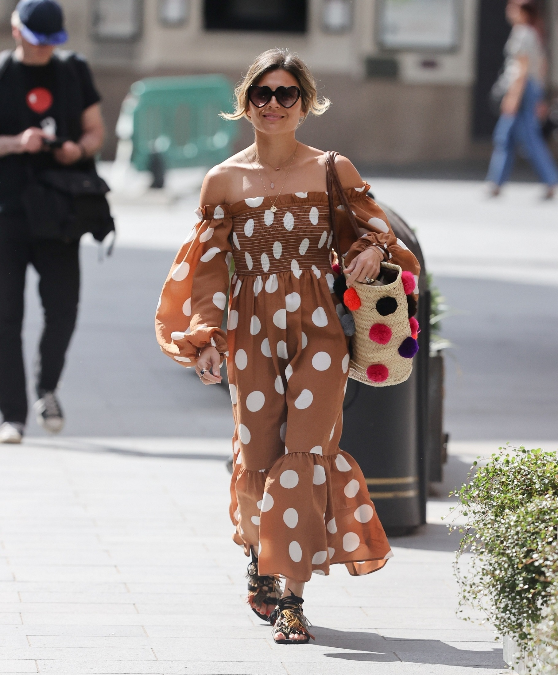 London, UNITED KINGDOM  - Zoe Hardman looks fabulous polka-dot and sandals exits Heart radio  *UK Clients - Pictures Containing Children Please Pixelate Face Prior To Publication*,Image: 531195595, License: Rights-managed, Restrictions: , Model Release: no, Credit line: BACKGRID / Backgrid UK / Profimedia