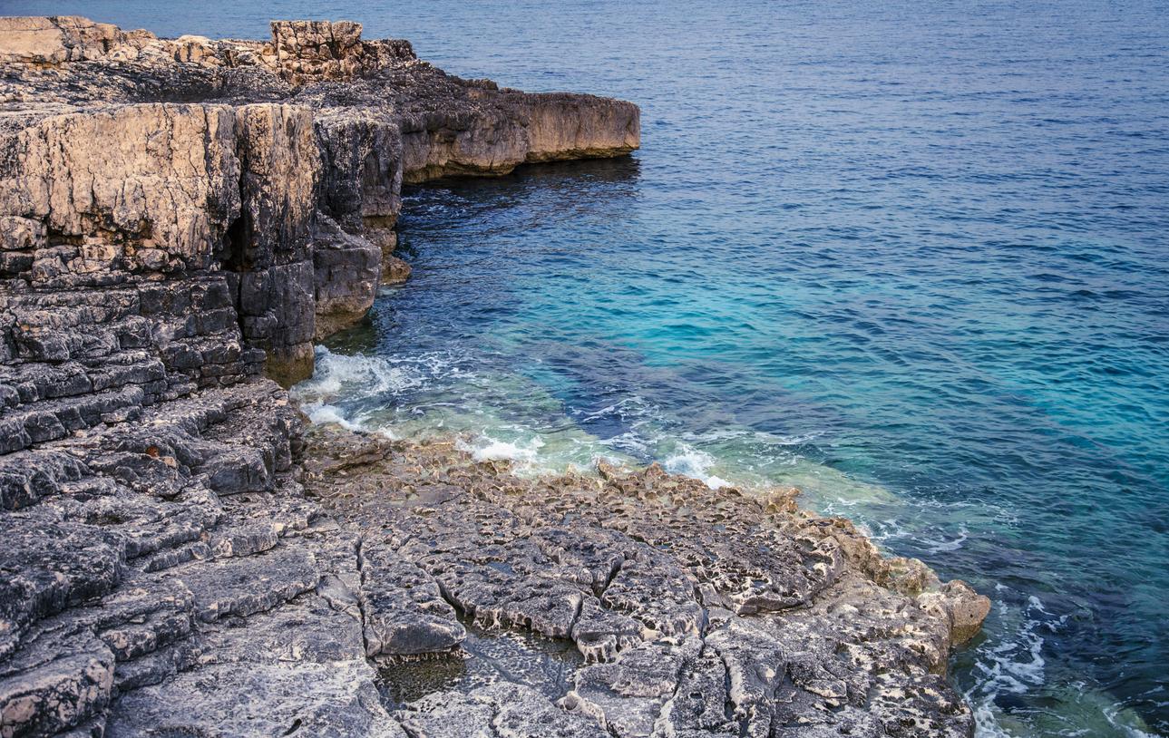 Rocky coast of Rt Kamenjak, Istria, Croatia