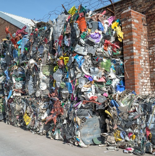 Bundles of plastic material for recycling,Image: 252340323, License: Rights-managed, Restrictions: , Model Release: no
