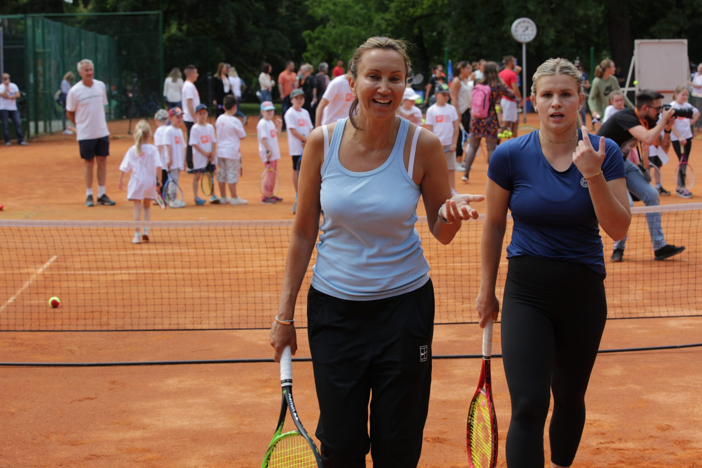Osijek, 040620. Tenis. Humanitarni turnir Hrvatski premier Tenis. Na fotografiji: Kids Day, Iva Majoli. Foto: Vlado Kos / CROPIX
