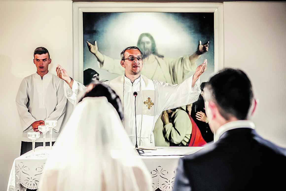 Slavonski Brod, 12.07.2014. Nikolina i Slaven prvi su mladenci koji su svoje sudbonosno