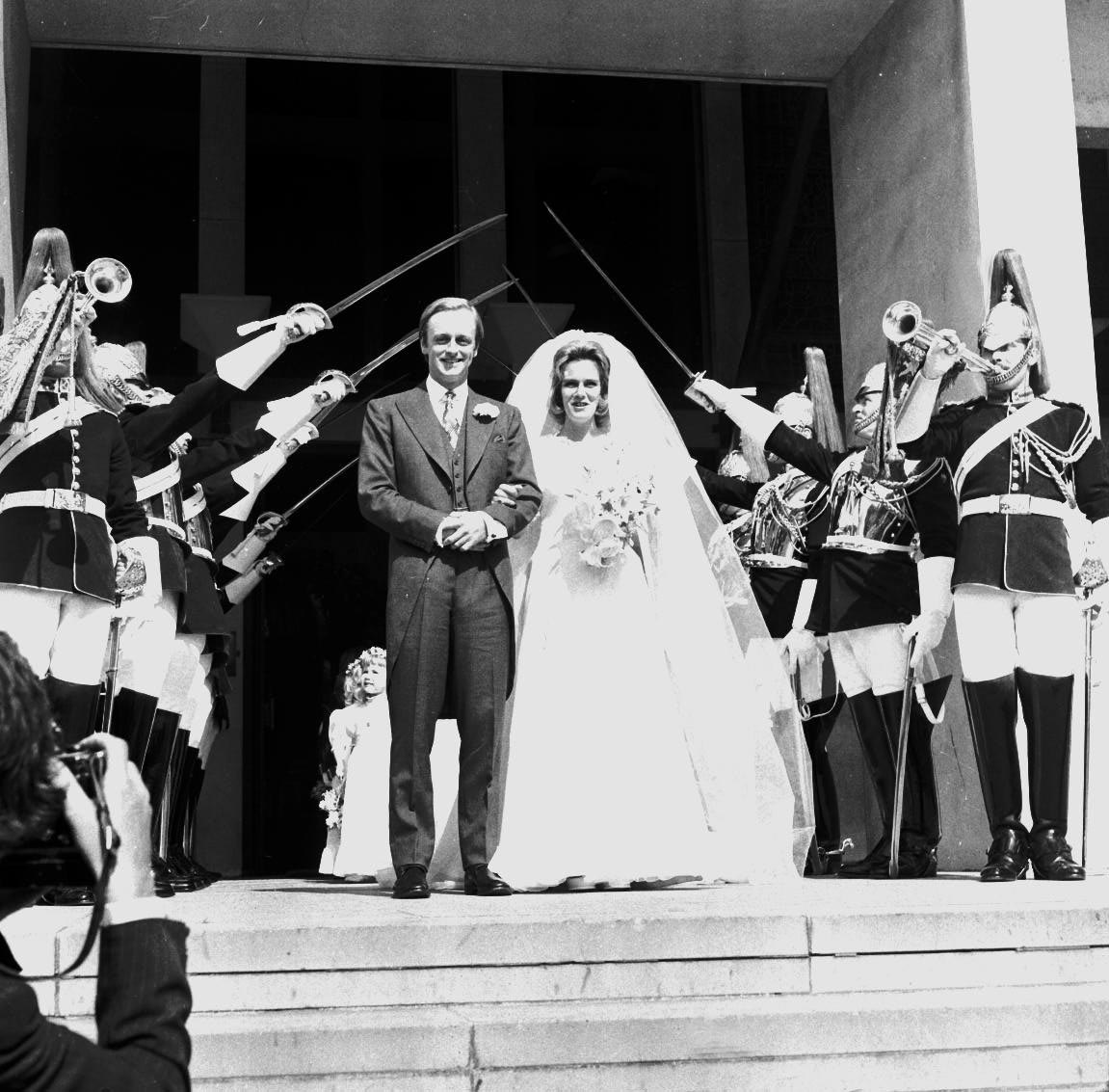File photo relating to the recent story that Prince Harry is to Join The Blues And Royals.  Major ANDREW PARKER-BOWLES (of the Blues and Royals) With his wife CAMILLA (nee SHAND) (Outside the Guards' Chapel Wellington Barracks, after their marriage),Image: 17707023, License: Rights-managed, Restrictions: For queries call UPPA + 44 (0)20 7421 6000, Model Release: yes, Credit line: UPPA/Photoshot / Avalon Editorial / Profimedia