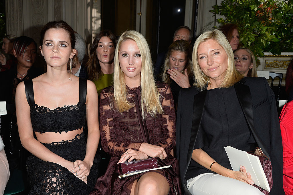 PARIS, FRANCE - JULY 09:  (L-R) Emma Watson, Princess Maria Olympia of Greece and Crown Princess Marie Chantal of Greece attend the Valentino show as part of Paris Fashion Week - Haute Couture Fall/Winter 2014-2015 at Hotel Salomon de Rothschild on July 9, 2014 in Paris, France.  (Photo by Pascal Le Segretain/Getty Images)