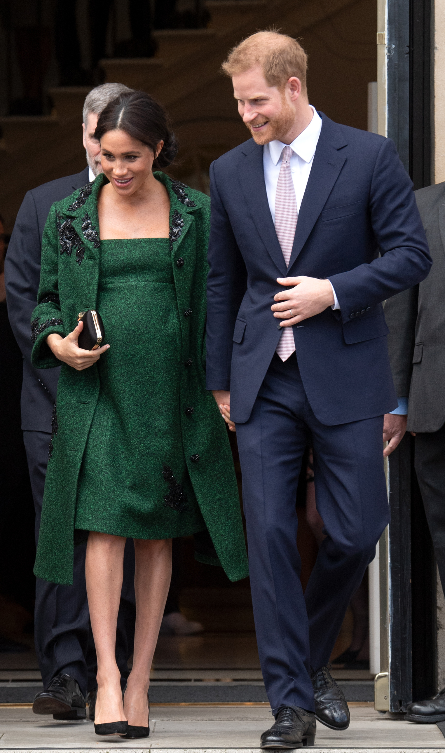The Duke and Duchess of Sussex wearing a green Erdem coat and dress,  attend a Commonwealth Day youth event at Canada House in London on March 11, 2019.,Image: 418886672, License: Rights-managed, Restrictions: , Model Release: no, Credit line: Anwar Hussein / PA Images / Profimedia